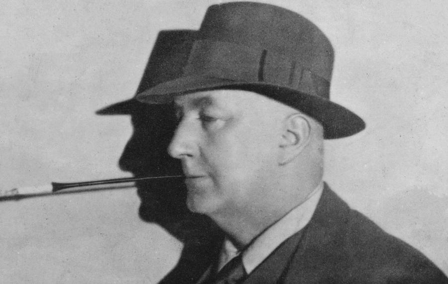 Porträt des Krimiautors Edgar Wallace, der unter anderem mit
